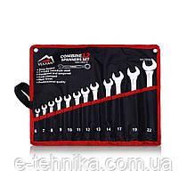Набір комбінованих ключів Vulkan 6-22 мм, 12 шт в чохлі