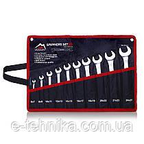 Набір ріжкових ключів Vulkan 6-27 мм, 10 шт в чохлі