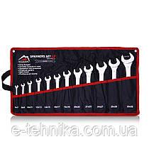 Набір ріжкових ключів Vulkan 6-32 мм, 12 шт в чохлі
