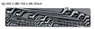 Набір накидних ключів Whirlpower 6-27 мм, 9 шт, ложемент