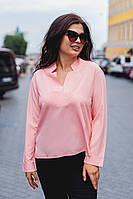 Женская прямая рубашка больших размеров, фото 1
