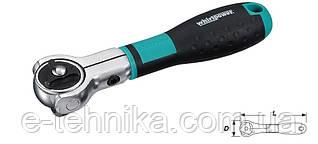 """Трещотка для головок Whirlpower 16142-10 шарнирная 1/2"""", 168 мм, 72 зуба"""