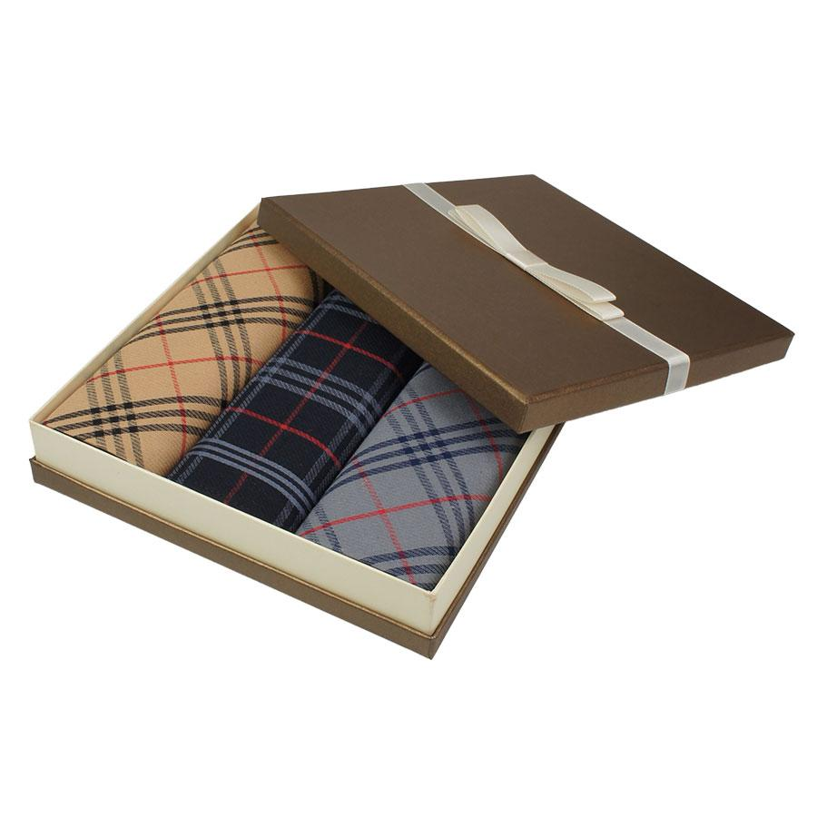 Набір комбінованих бавовняних носових хусток для чоловіків EGA CH-753/3С