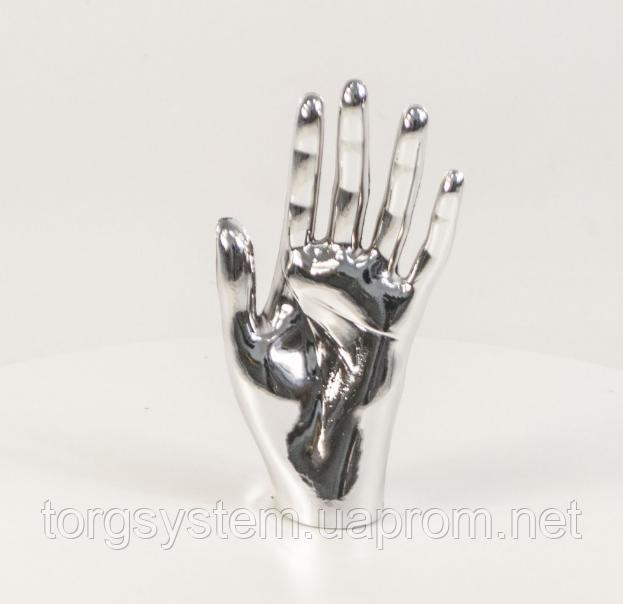 Манекен кисть руки жіноча металізована