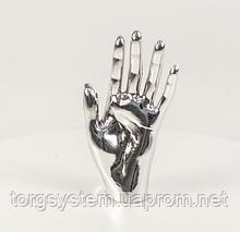 Манекен кисть руки женская металлизированная