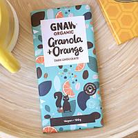 Черный шоколад Gnaw Organic Granola Orange 100 g