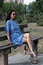Туника-платье синее в белую полоску oversize - 405-48, фото 3