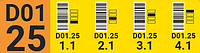 Этикетки для маркировки стеллажей