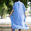 Туника-платье синее в белую полоску oversize - 405-48, фото 4