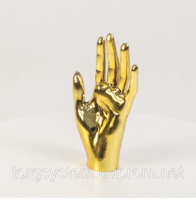 Манекен кисть руки жіноча металізована (золото)
