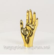 Манекен кисть руки женская металлизированная (золото)