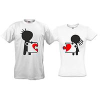 Парные футболки Сердце на двоих