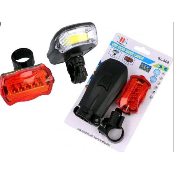 Велосипедний ліхтарик BL 508 COB/Bailong BL-908 ліхтар зі стопом