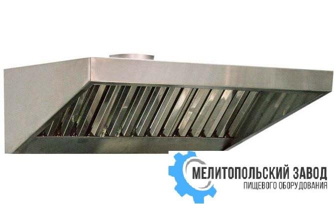 Зонт пристенный с жироулавлевателями 2400х800х400