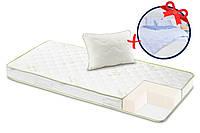 Матрас Dormeo Aloe Vera V2 + подушка и постельное белье 200х200 см Белый