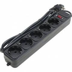 Сетевой фильтр 220В 4,5м 5 розеток Gembird SPG3-B-15 (Black)