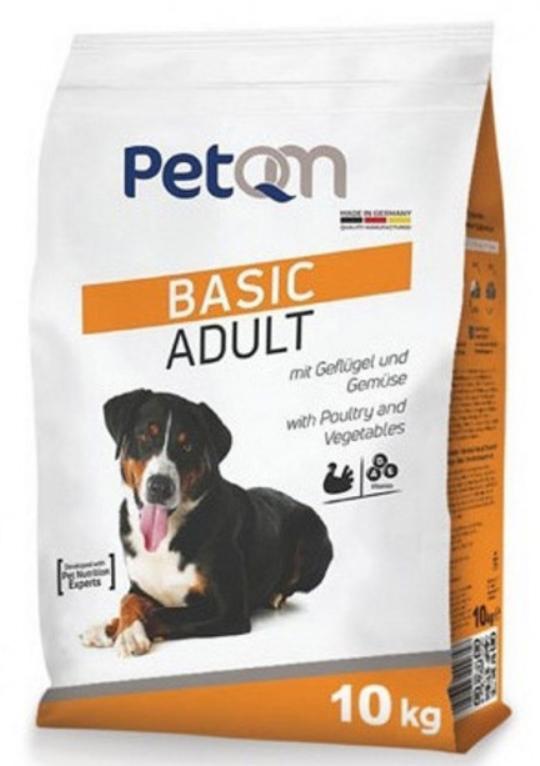 Сухой корм для собак всех пород с 12 месяцев PetQM Dog Basic Adult / 10 кг