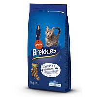 Сухой корм с мясом, рыбой и овощами для взрослых кошек Brekkies (Брекис) Cat Complet / 15 кг, фото 1