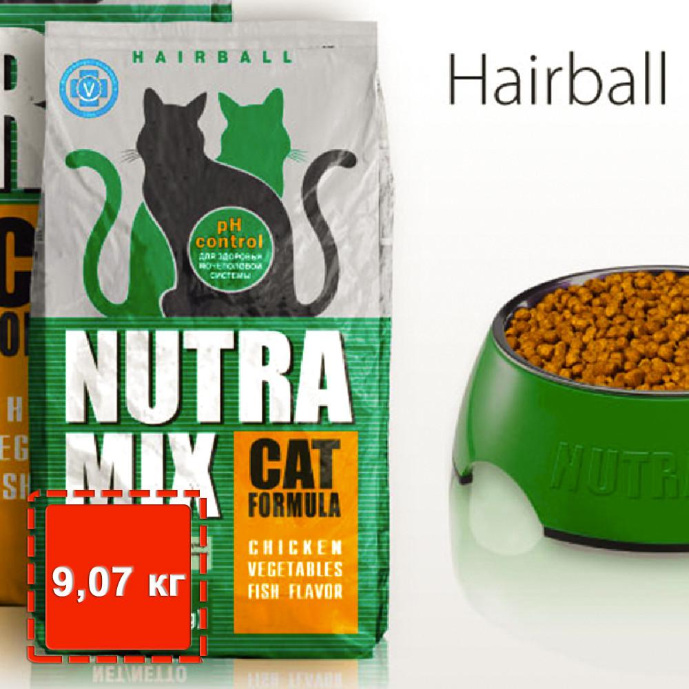 Сухой корм для котов с эффектом выведение комков шерсти Nutra Mix Cat Hairball / 9,07 кг