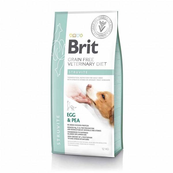 Беззерновой корм для собак при мочекаменной болезни Brit GF VetDiets Dog Struvite Egg & Pea / 12 кг
