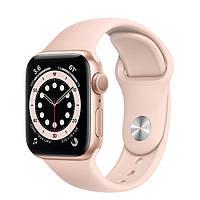 Apple Watch Series 6 GPS 40mm Gold Aluminum Case w. Pink Sand Sport B. (MG123) [50375]