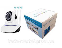 Инфракрасная камера видеонаблюдения Q5 V380-Q5Y-1 3 антенны с встронным модулем Wi-Fi