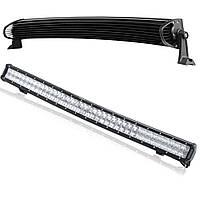 Автофара LED балка на 78 светодиодов LightX 5D-234W автомобильная MIX дополнительная фара Черный