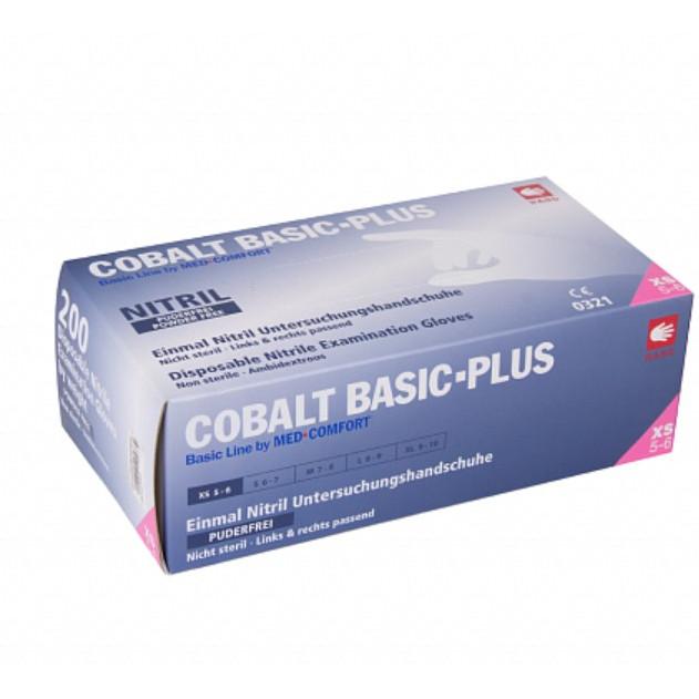 Перчатки Cobalt Basic Plus нитриловые смотровые н/ст неприпудренные р.L