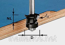 Фреза для снятия фаски и пригонки HW S8 D24/0° +45° хвостовик 8 мм Festool 491026