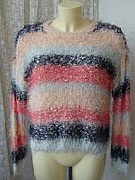 Свитер женский пушистый нарядный бренд New Look р.48 4030