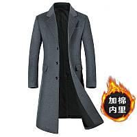 Осенне-зимнее шерстяное пальто мужское в корейском стиле, ультратонкое лакированное шерстяное пальто в корейском стиле, шерстяное пальто и толстое