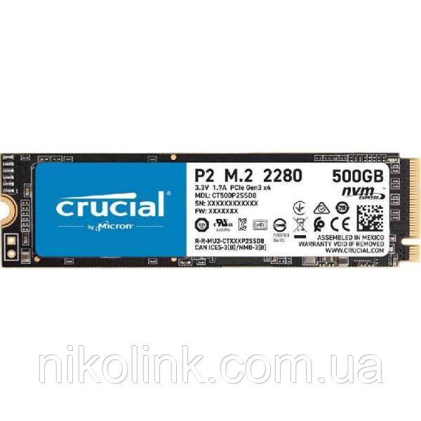 SSD Crucial P2 NVMe 500GB M.2 2280 PCIe 3.0 x4 TLC (CT500P2SSD8)