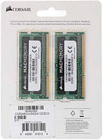 Память Corsair Mac Memory SODIMM DDR3 8GB KIT PC3-10600 (1333Mhz), 1.5V (2x4GB)(CMSA8GX3M2A1333C9)