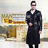 Зимовий оксамитове довге пальто тато плюс, костюм з коміром, шкіряні шкіряна куртка чоловіча двобортна, плюс, довгий шкіряний тренч, зимова куртка