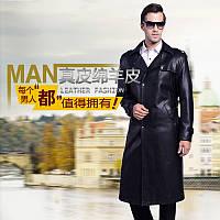 Зимнее бархатное длинное пальто папа плюс, костюм с воротником, кожаная кожаная куртка, мужская двубортная, плюс, длинный кожаный тренч, зимняя куртка