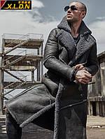 Xin Luo Dino зимняя утолщенная длинная мужская кожаная куртка из овчины с мехом one мужская кожаная куртка мужская куртка с мехом