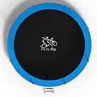 Батут FitToSky 404 см з внутрішньої сіткою і драбинкою вуличний домашній, фото 3
