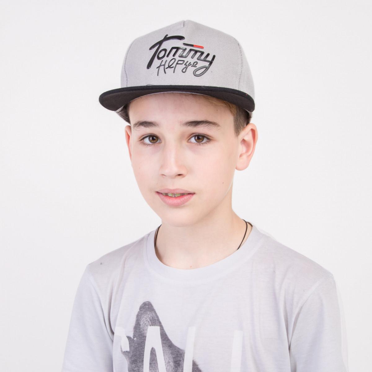 Брендовая кепка Snapback для мальчика оптом - Tommy - 82018-60