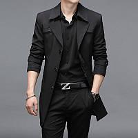 Толстая мужская ветровка больших размеров, длинная осенне-зимняя деловая куртка, толстая толстая, повседневная куртка большого размера, тренд
