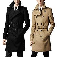 Весенне-осенний мужской длинный британский двубортный тонкий тренч в корейском стиле, молодежное пальто в китайском стиле, куртка 1103