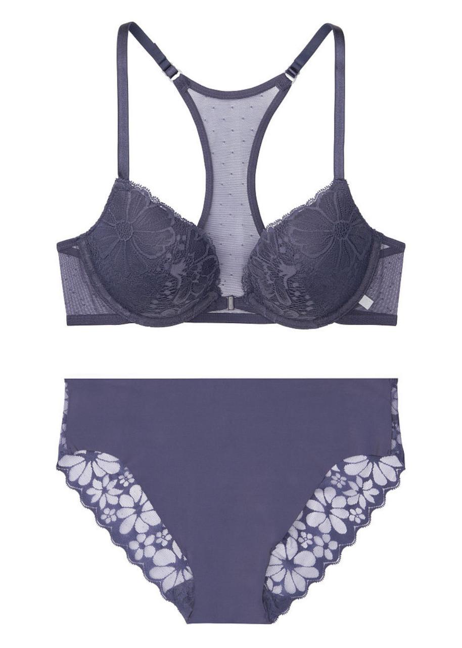 Элегантный комплект белья Victoria's Secret art589387 (Синий, размер 34B)