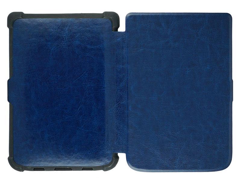 Чохол PocketBook 606 синій PU - вид на розворот