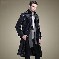 Осень и зима 2020, плюс бархатная кожаная куртка средней длины с воротником-стойкой, мужской меховой тренч и длинная кожаная куртка