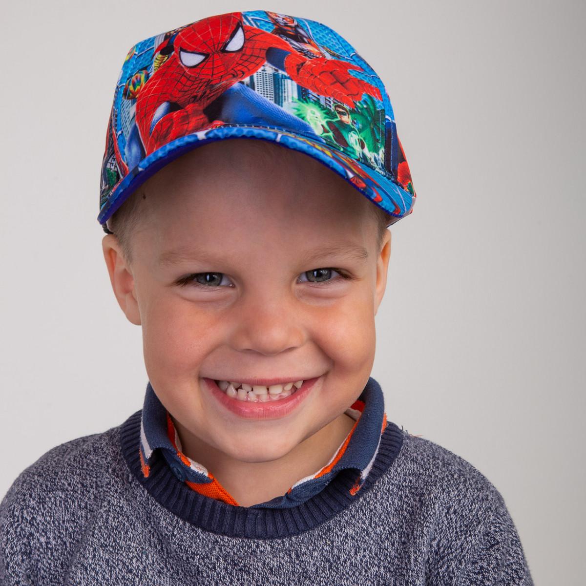 Детская летняя кепка для мальчика - Spider-Man(к11)