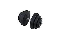 Композитна гантель RN-Sport 18 кг з грифом хром