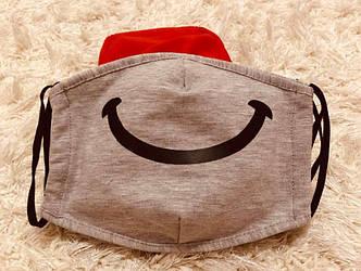 Защитная маска для взрослых и подростков, двухслойная оптом