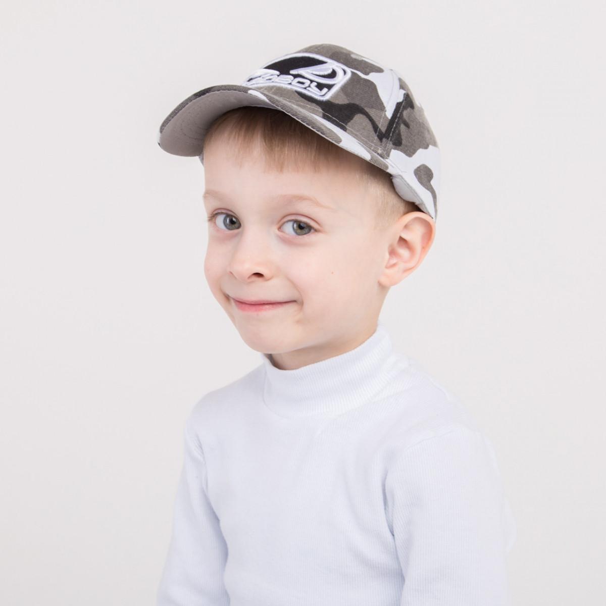 Камуфляжная кепка на весну-лето для мальчика - BadBoy - 82018-35b