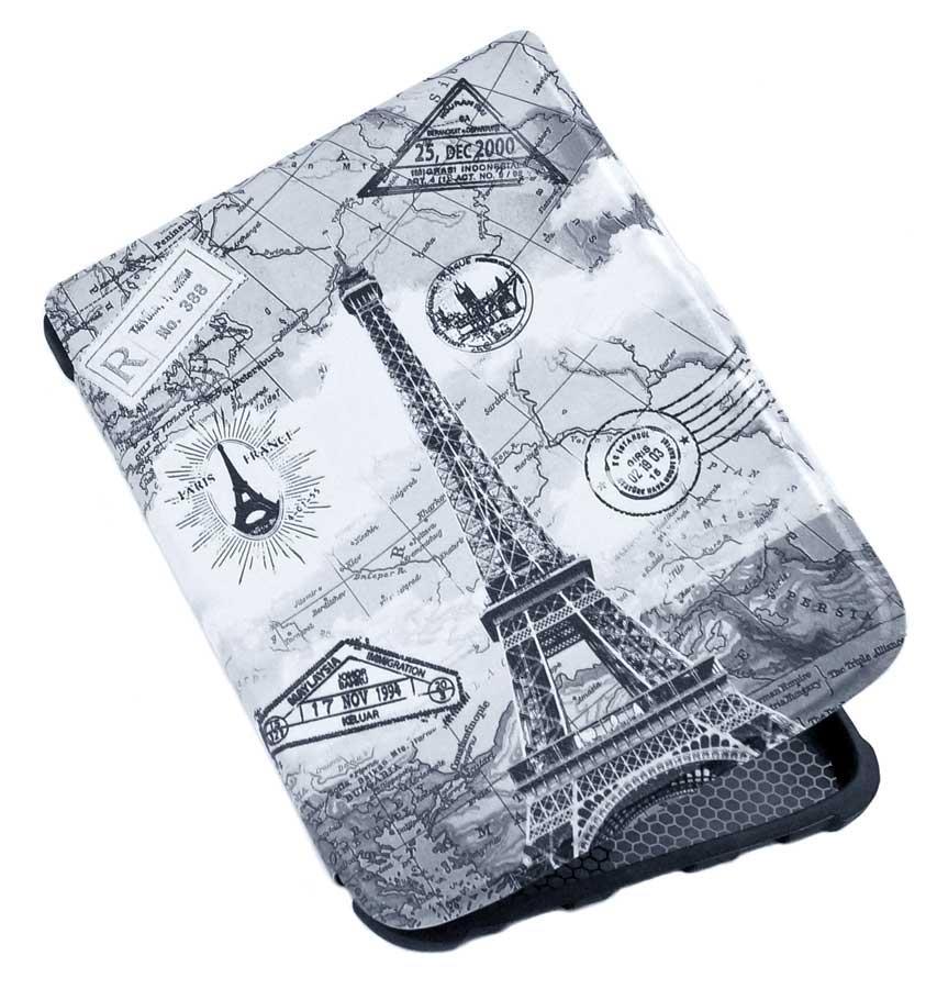 Чехол PocketBook 633 Color Paris – обложка для Покетбук Color Moon Silver
