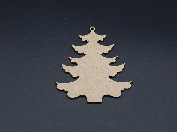 Дерев'яна іграшка під розпис.Ялинка 9см ДВП, фото 2