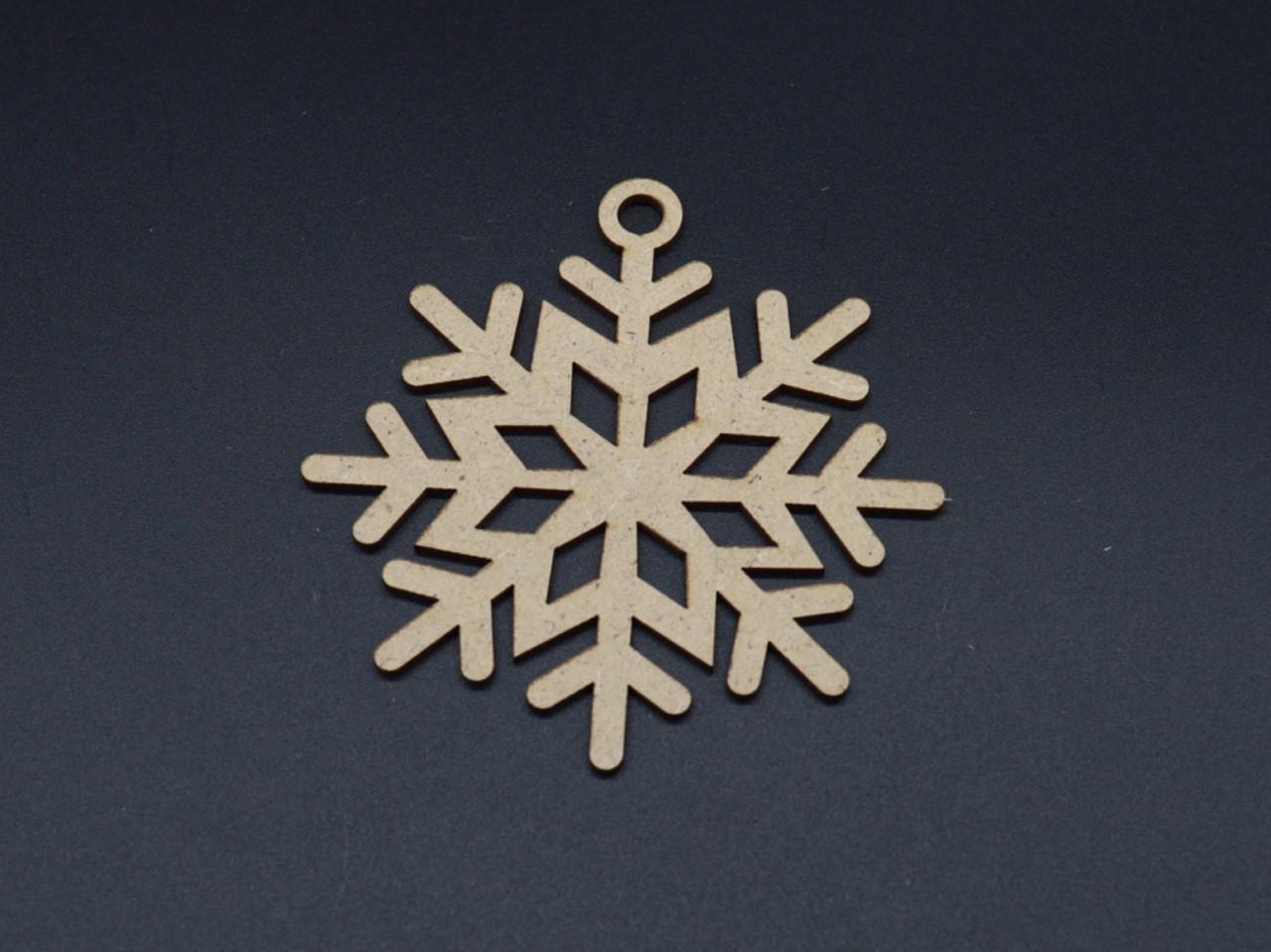 Деревянные заготовки снежинка 9см ДВП